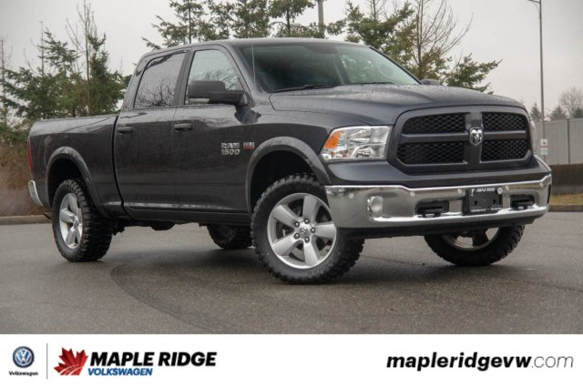 Pre-Owned 2017 Ram 1500 Outdoorsman 1 OWNER, NO ACCIDENTS, BC CAR!