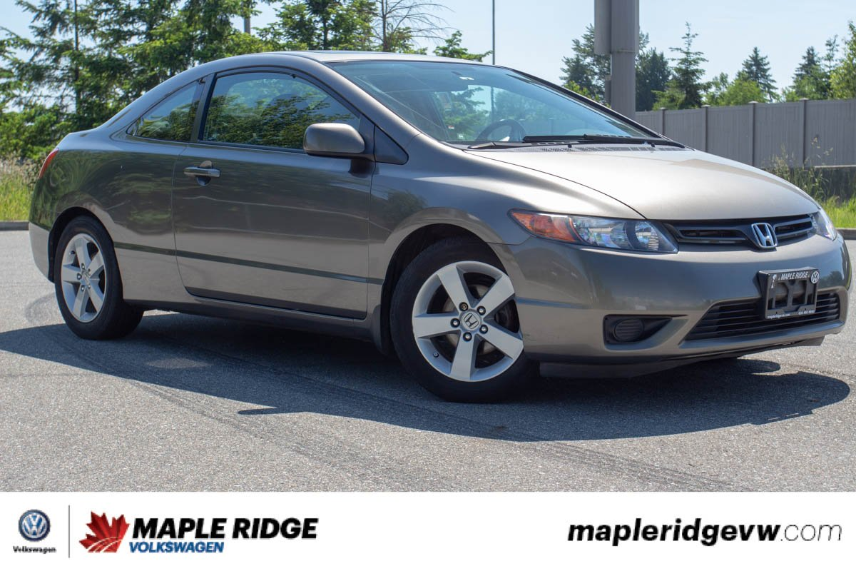 Pre-Owned 2008 Honda Civic Cpe EX-L LEATHER, BC CAR, SUNROOF, MANUAL TRANSMISSION, LOW KM!