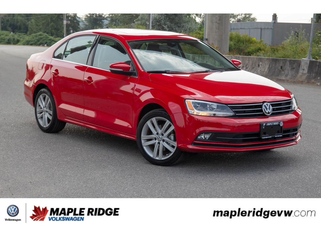 Certified Pre-Owned 2016 Volkswagen Jetta Highline - LOW KM'S,SUNROOF,LEATHER