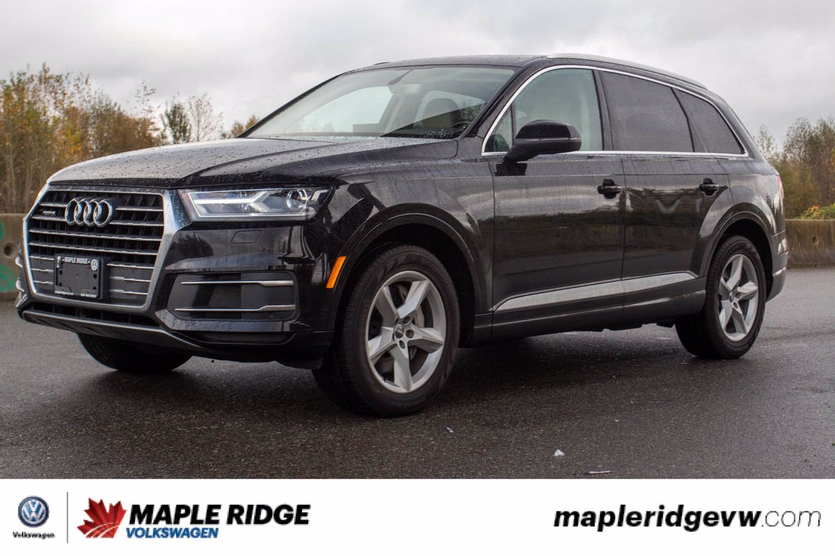 Pre-Owned 2017 Audi Q7 3.0T Komfort AWD, LEATHER, NAV, PANO ROOF, LOW KM, LOCAL CAR!