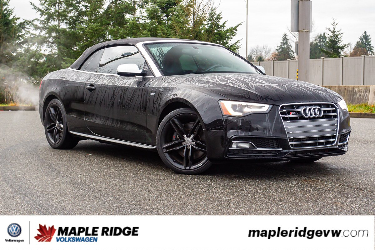 Pre-Owned 2015 Audi S5 Technik AWD, CONVERTIBLE, NO ACCIDENTS, LOW KM!
