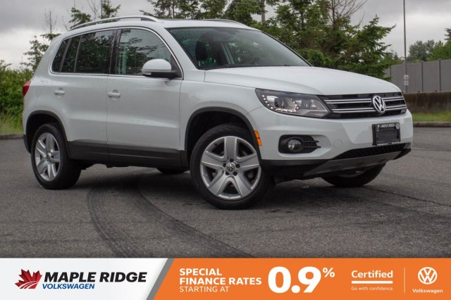 Certified Pre-Owned 2016 Volkswagen Tiguan Comfortline ONE OWNER, NO ACCIDENTS, LOCAL CAR!