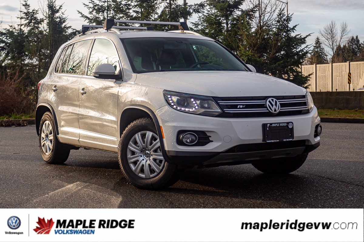 Pre-Owned 2013 Volkswagen Tiguan Highline 4MOTION AWD, NO ACCIDENTS, PANO ROOF, LEATHER, B.C.