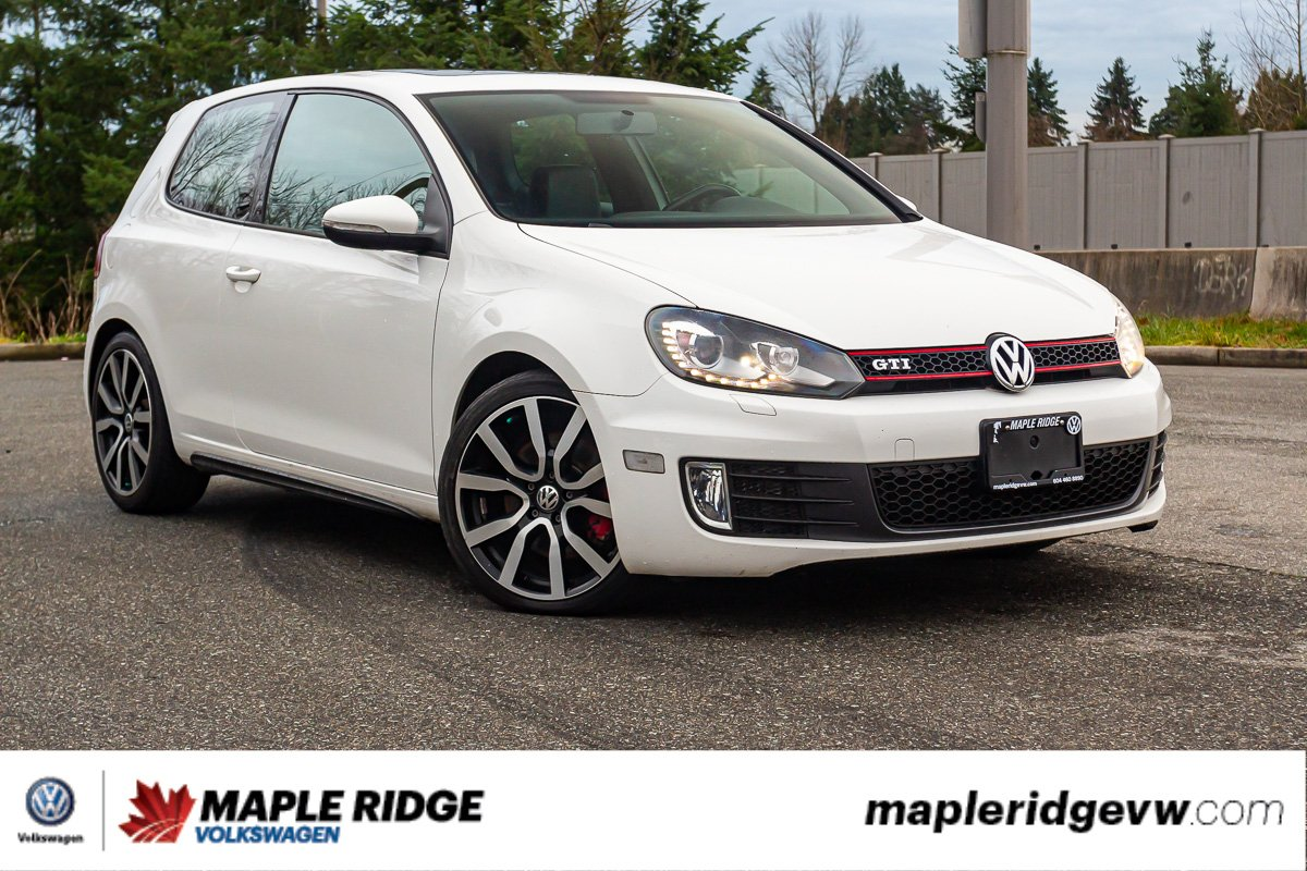 Pre-Owned 2012 Volkswagen Golf GTI Autobahn LEATHER, PANO ROOF, GREAT CONDITION, LOCAL CAR!