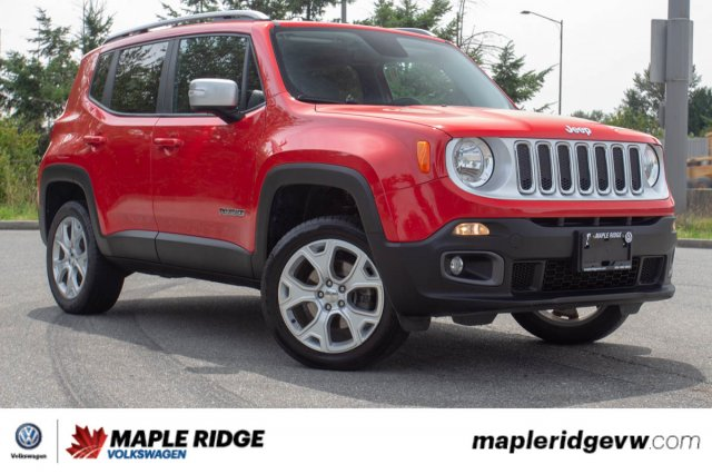 Pre-Owned 2017 Jeep Renegade Limited LOCAL CAR, NO ACCIDENTS, FOUR-WHEEL DRIVE!