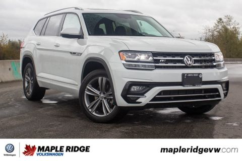 Pre-Owned 2019 Volkswagen Atlas Highline 4MOTION R-LINE, LEATHER, NO ACCIDENTS, B.C. VEHICLE!