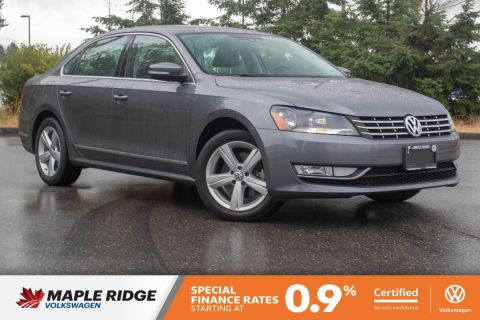 Certified Pre-Owned 2014 Volkswagen Passat Comfortline TDI NO ACCIDENTS, B.C. CAR, SUPER LOW KM!