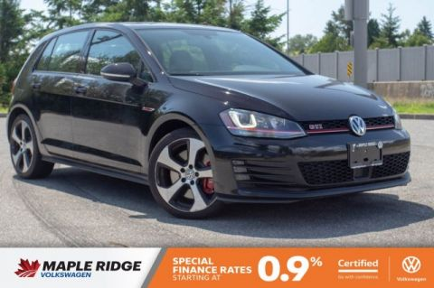 Certified Pre-Owned 2015 Volkswagen Golf GTI Performance AMAZING VALUE, MANUAL, FULLY LOADED