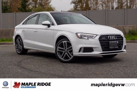 Pre-Owned 2018 Audi A3 Sedan Progressiv AWD, ONE OWNER, LOW KM, NO ACCIDENTS, B.C. CAR!