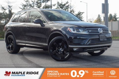 Certified Pre-Owned 2016 Volkswagen Touareg Execline R-Line TDI 1 OWNER, BC CAR, NO ACCIDENTS, LOW KM!