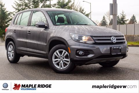 Pre-Owned 2014 Volkswagen Tiguan Trendline 4MOTION AWD, NO ACCIDENTS, BLUETOOTH, B.C. CAR!