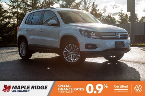 Certified Pre-Owned 2016 Volkswagen Tiguan Special Edition AWD, NO ACCIDENTS, ALL-WHEEL DRIVE