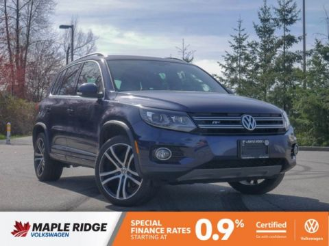 Certified Pre-Owned 2017 Volkswagen Tiguan R-LINE PACKAGE, GREAT VALUE, PERFECT PEOPLE MOVER