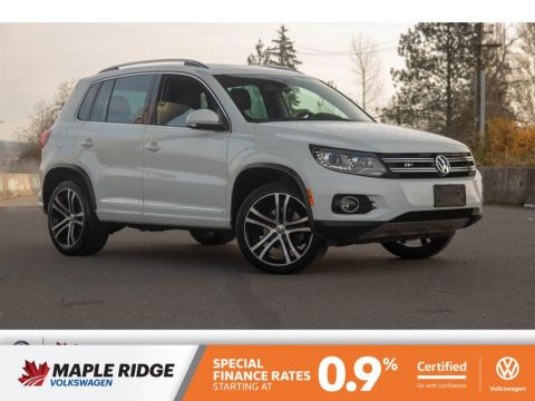 Certified Pre-Owned 2017 Volkswagen Tiguan Highline NO ACCIDENTS, BC CAR, ALL-WHEEL DRIVE!
