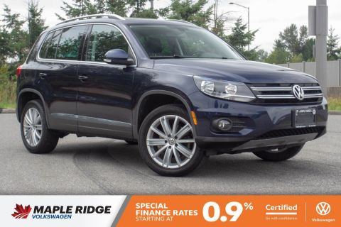 Certified Pre-Owned 2017 Volkswagen Tiguan Comfortline AWD, NO ACCIDENTS, LOCAL CAR, LOW KM!
