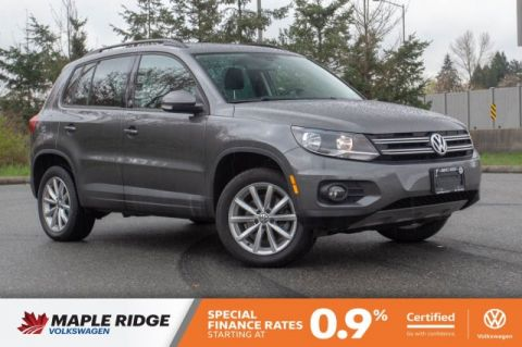 Certified Pre-Owned 2017 Volkswagen Tiguan Wolfsburg Edition ONE OWNER, NO ACCIDENTS, LOCAL CAR!